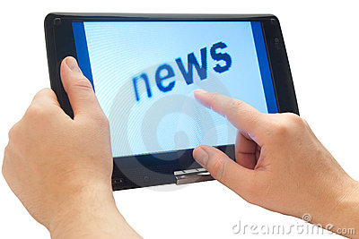 News on touch tablet