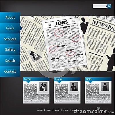 News website template design