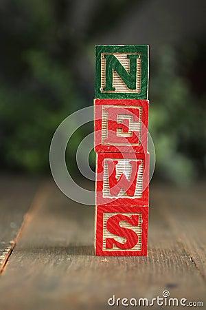 News wood blocks