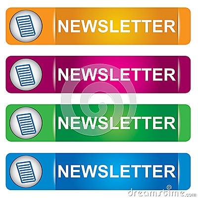 Newsletter banner set