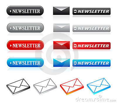 Newsletter buttons & icons