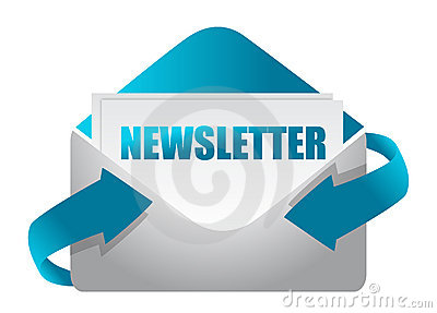 Newsletter envelope illustration design