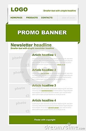 Newsletter green template