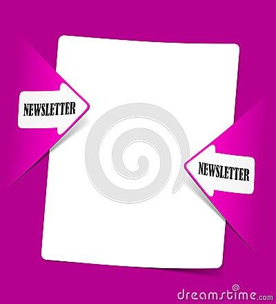 Newsletter, realistische Auslegungelemente