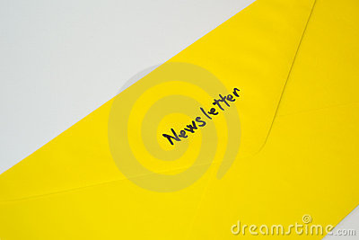 Newsletter / Subscription yellow envelope