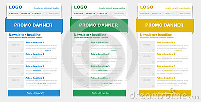 Newsletter templates for emailing.