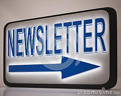 Newsletter-Zeichen, das Nachrichten-Post zeigt