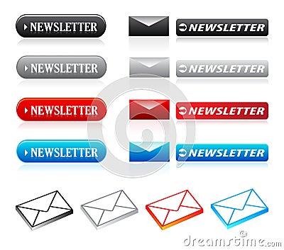 Newslettertasten u. -ikonen