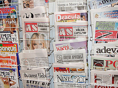 Newspaper Editorial Stock Photo