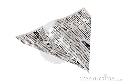 Newspaper Airplane