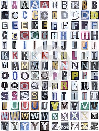 Free Newspaper Alphabet Upper Stock Photo - 822670
