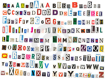 Newspaper alphabet - Upper Case