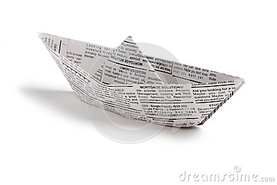 Newspaper boat