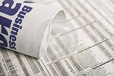 Newspaper - Business news