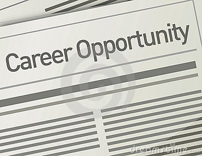 Newspaper Career Opportunity ad, Employment concep