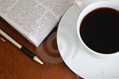 Newspaper and Coffee 2