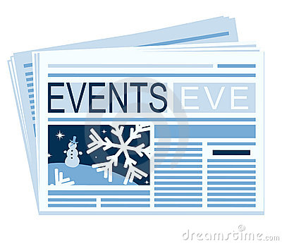 Newspaper of festive events