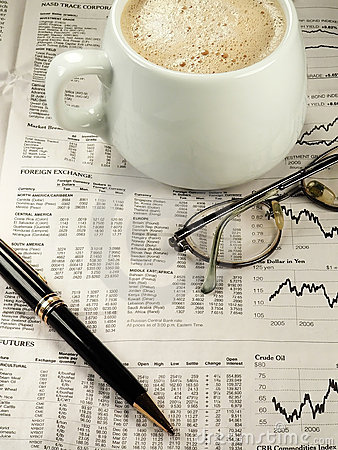 Newspaper Financial Section