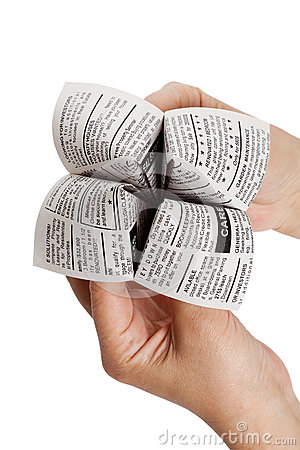 Newspaper Fortune Teller