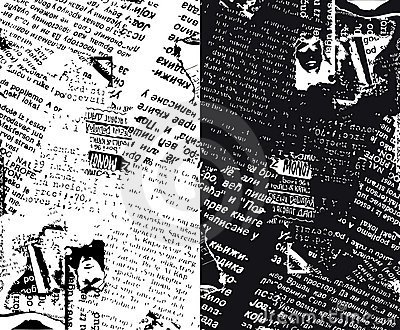 Newspaper grunge half