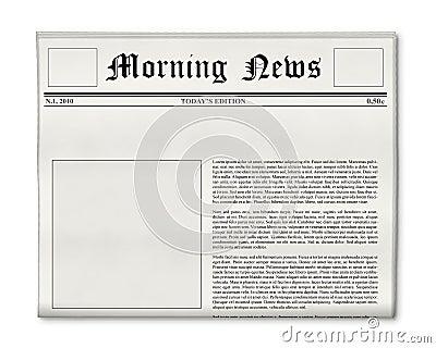 Newspaper headline and photo template