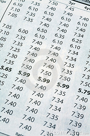 Newspaper Mortgage Rate