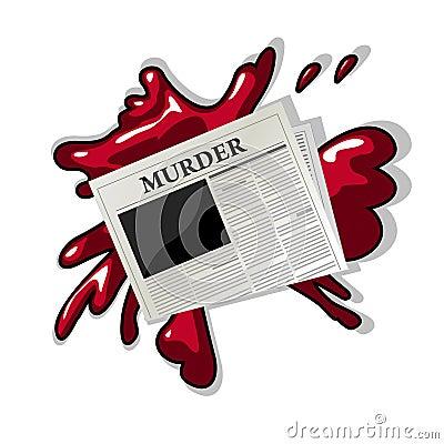 Newspaper murder icon