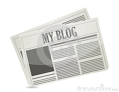 Newspaper with my blog text