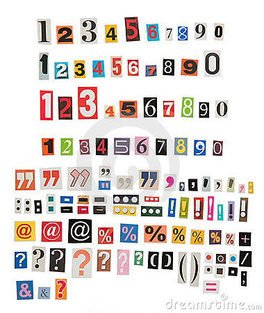 Newspaper numbers and symbols