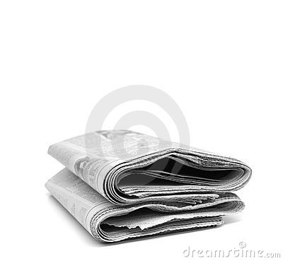 Free Newspaper Rolled Up Royalty Free Stock Images - 10555589