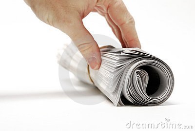 Newspaper Rolled Up Stock Photography - Image: 20475122