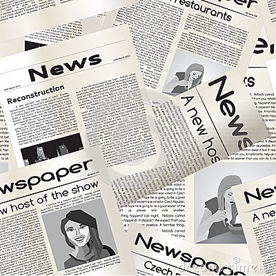 Newspaper seamless pattern