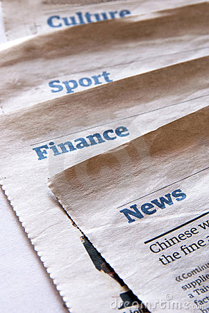 Newspaper Sections Stock Photography - Image: 15580212