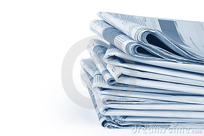 Newspaper Stack with Path