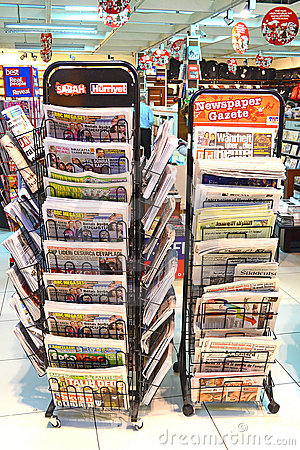 Newspaper Stand Editorial Photo
