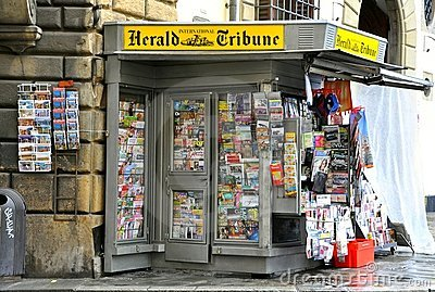 Newspaper stand in Italy Editorial Photo