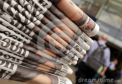 Newspaper stand Editorial Stock Image