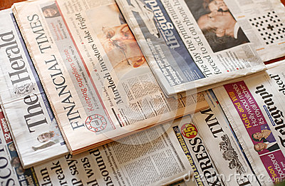 Newspapers Editorial Stock Photo