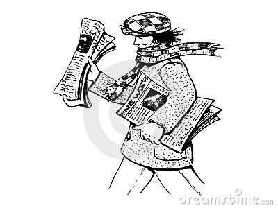 Boy Child Delivering Newspaper Clip Art - Royalty Free Clipart ...
