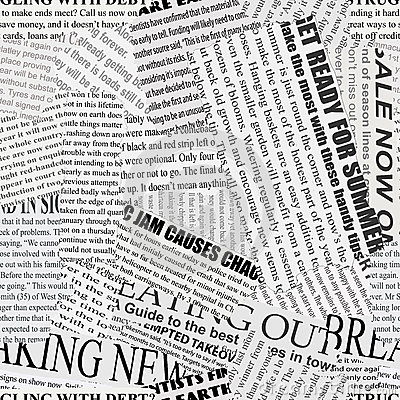 Free Newsprint Background Stock Photography - 27233762