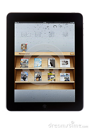 Newsstand on iPad Editorial Stock Photo