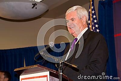 Newt Gingrich 2-24-2012 Federal Way, Washington Editorial Photo