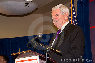 Newt Gingrich 2-24-2012 Federal Way, Washington Editorial Image