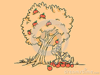 Newton apple tree discover gravity  posters