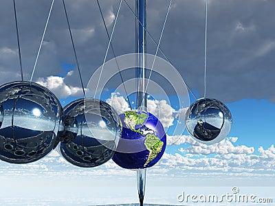 Newton-Aufnahmevorrichtungs-Erde