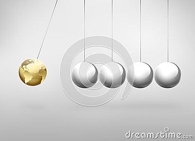 Newton pendulum