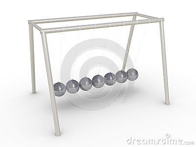 Newton s cradle without motion