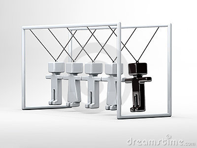 Newton s cradle with people