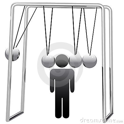 Newtons Cradle Cradles Man Head