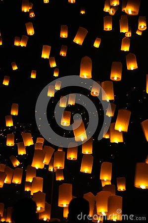 Free Newyear Balloon Traditional Lantern Stock Photo - 25979660